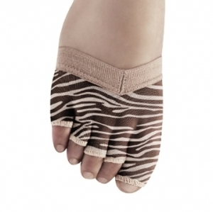 Bloch_Soleil_Zebra_Foot_Glove_Up