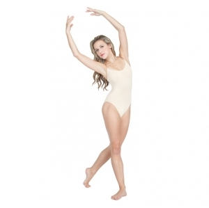 Capezio_Camisole_with_Clear_Transition_Straps_Front_White
