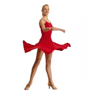 Capezio_Panelled_Camisole_Dress_Red