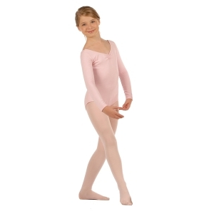 Capezio_Adult_Long_Sleeve_Cotton_Leotard_Pink