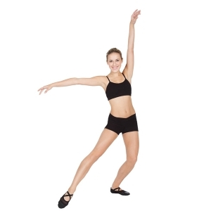 Capezio_V_Front_Cotton_Shorts_Black