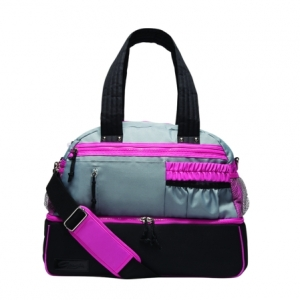 Capezio_Multi_Compartment_Dance_Bag_Black_Pink_Grey