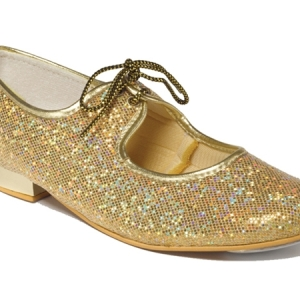 Tappers_Gold_Glitter_Hologram_Tap_Shoe_Gold