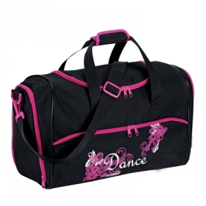 Dance_Swirls_Holdall_Bag_Black_Pink