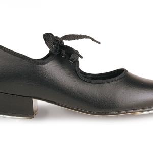 Roch_Valley_PU_Low_Heel_Tap_Shoe_Black