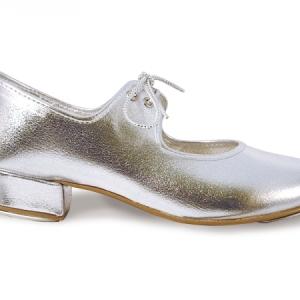 Roch_Valley_PU_Low_Heel_Silver_Tap_Shoe