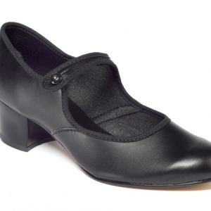 Tappers_and_Pointers_Cuban_Heel_PU_Character_Shoe_Black
