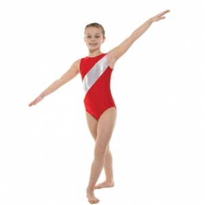Tappers_Stripe_Gymnastics_Leotard_Red