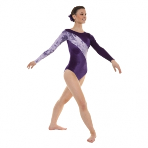 Tappers_Velour_Long_Sleeve_Leotard_Grape