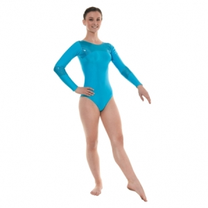 Tappers_Nylon_Lycra_Gymnastics_Leotard_Kingfisher