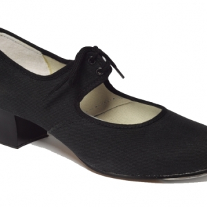 Tappers_and_Pointers_Canvas_Cuban_Heel_Tap_Shoe_Black