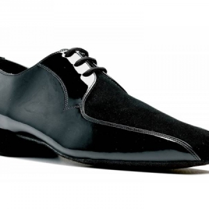 Topline_Patent_and_Nubuck_Ballroom_Shoe_Black