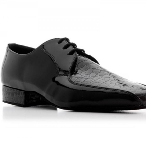 Topline_Crocodile_Finish_Patent_Ballroom_Shoe_Black