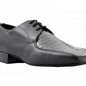 Topline_Crocodile_Finish_Ballroom_Shoe_Black