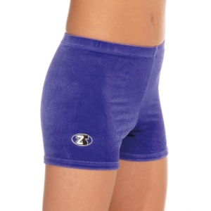 The_Zone_Childs_Smooth_Velour_Gymnastic_Shorts_Grape